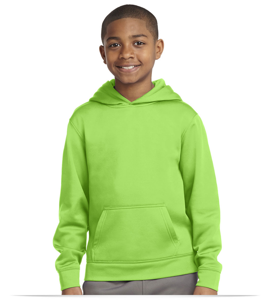 Customize Sport-Tek Youth Sport-Wick Fleece Hoodie