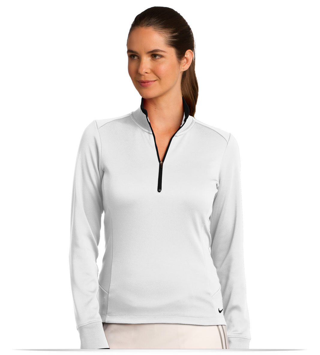 03a7b60b Design Nike Golf Ladies Dri-FIT 1/2-Zip Cover-Up Online at AllStar Logo