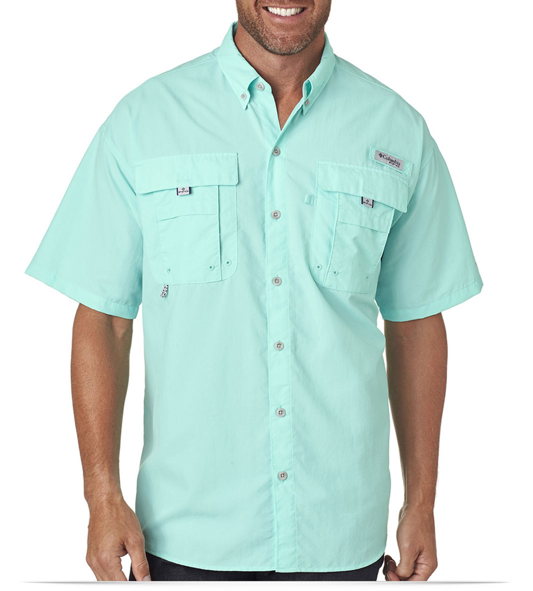 Custom embroidered columbia men 39 s bahama ii short sleeve for Embroidered columbia fishing shirts