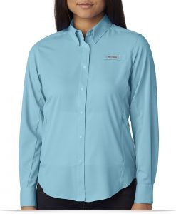 Custom Columbia Ladies Long-Sleeve Shirt
