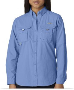Custom Columbia Ladies Bahama Long-Sleeve Shirt