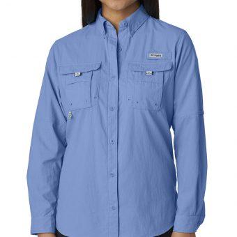 Custom Columbia Ladies Bahama Long-Sleeve Shirt