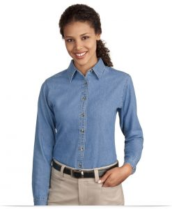 Twill & Custom Embroidered Denim Shirts for Women