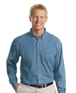 Embroidered Denim Work Shirts & Twill Shirts