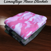 Custom Camouflage Fleece Blankets