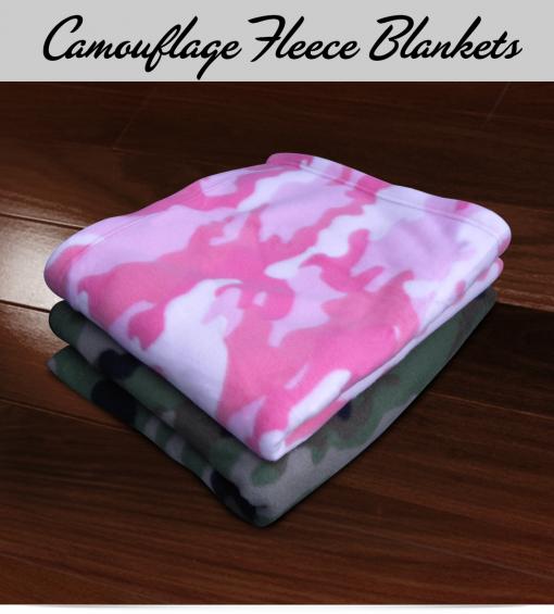 Custom Camouflage Fleece Blankets
