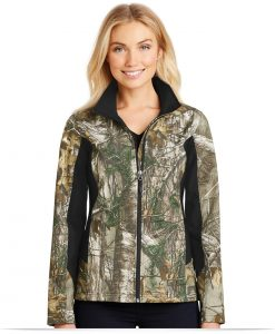 Women's Custom Logo Camouflage Softshell Jacket