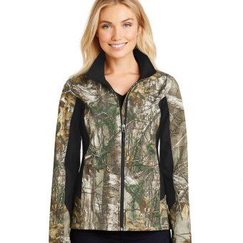 Women's Custom Logo Camouflage Softshell Jacket