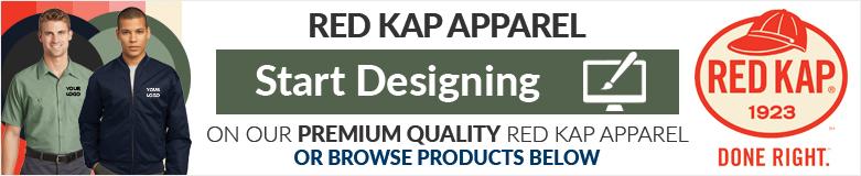 custom red kap apparel