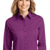 Customize Women's Long Sleeve Easy Care Twill Shirt