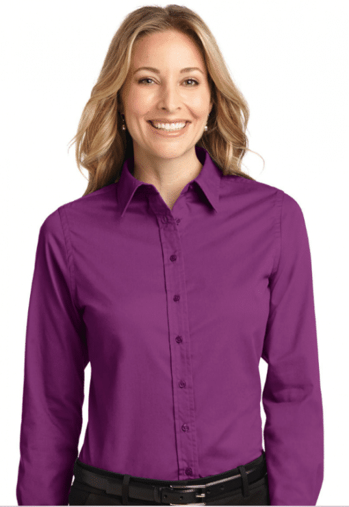 Customize Women's Long Sleeve Easy Care Twill Shirt