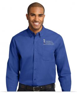 Embroidered Logo Men's Dress Shirt